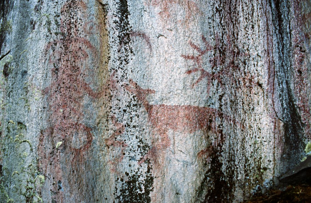 Squamish pictograph found in Howe Sound near Enwilh Spalhxen (Furry Creek). (Photo: Gary Fiegehen)